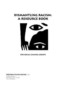 Dismantling racism cover shot